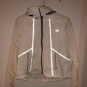 Women's White Under Armour Running Jacket